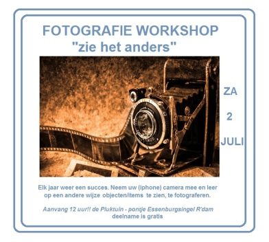 fotografie workshop 2 juli 2016