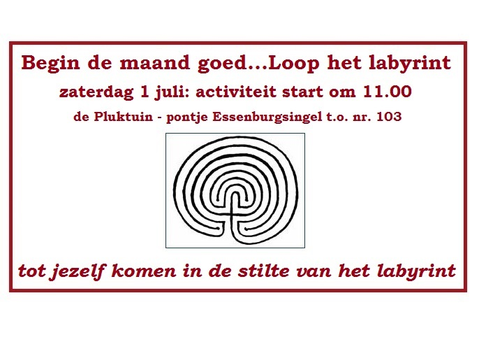 labyrint lopen 1 juli 2017