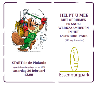 opruimdag essenburgpark 6 februari 2016 flyer