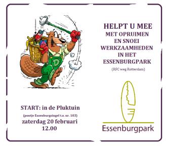 opruimdag essenburgpark 6 februari 2016 flyer