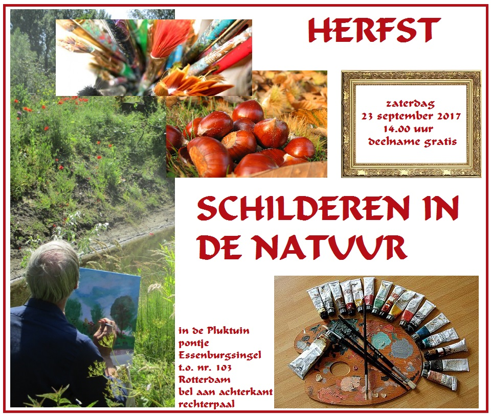 schilderen in de natuur workshop 23 sept 2017 flyer