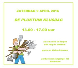 klusdag 9 april 2016 pluktuin