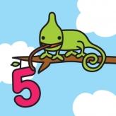 5 jaar kameleon logo