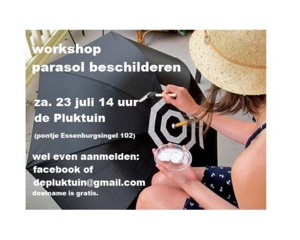 parasol beschilderen workshop 23 juli 2016