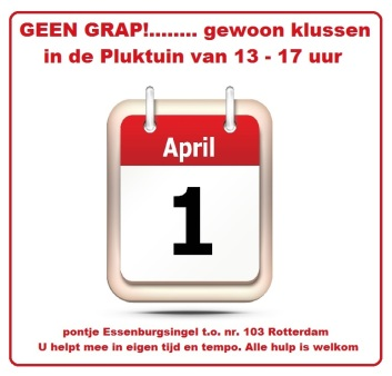 klusdag 1 april 2017 pluktuin