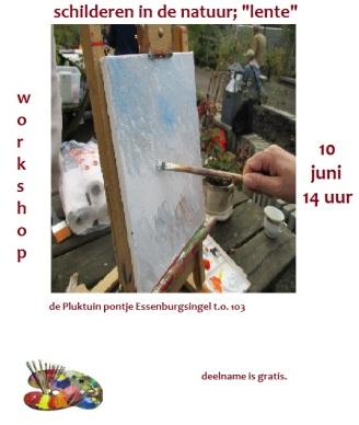 schilderen in de natuur workshop 10 juni 2017