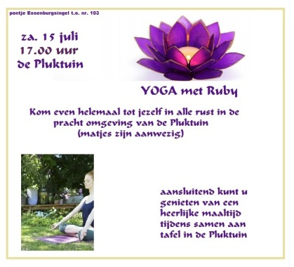 yoga met ruby 15 juli 2017