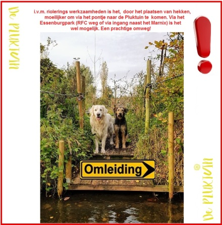 omleiding pluktuin april 2018