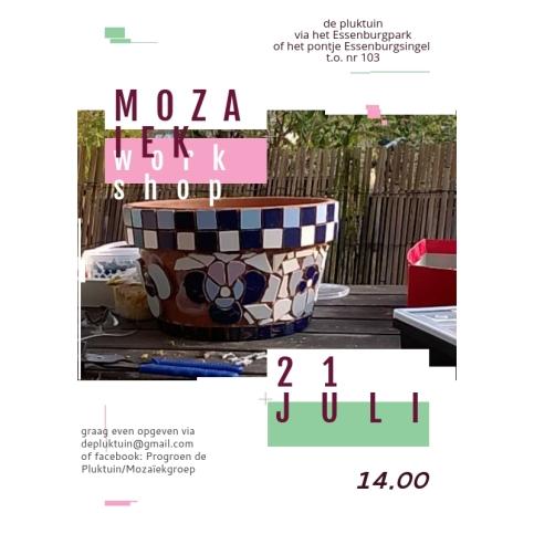 mozaiek workshop 21 juli 2018