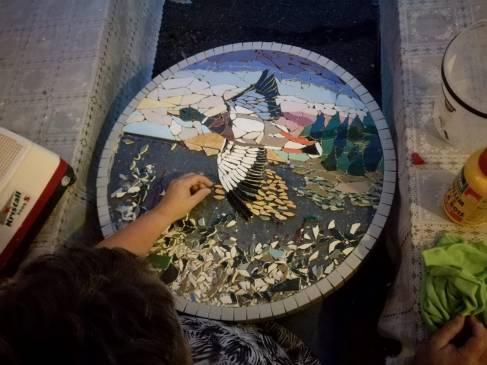 mozaike tafel eend juli 2018