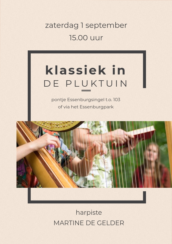 klassiek in de Pluktuin martine de gelder 1 sept 2018